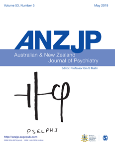 Cover of Australian & New Zealand Journal of Psychiatry