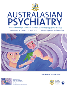 Cover of Australasian Psychiatry
