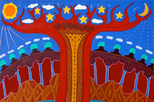 An Aboriginal painting called 'The Tree of Life'